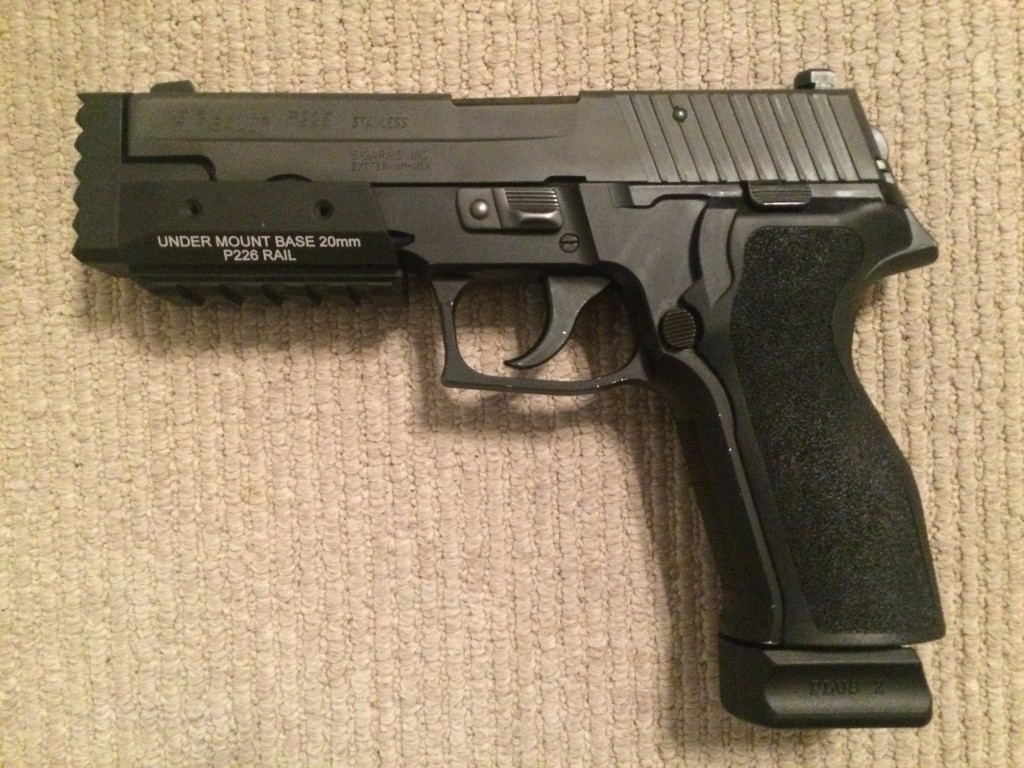 Sig P226 with Strike Plate