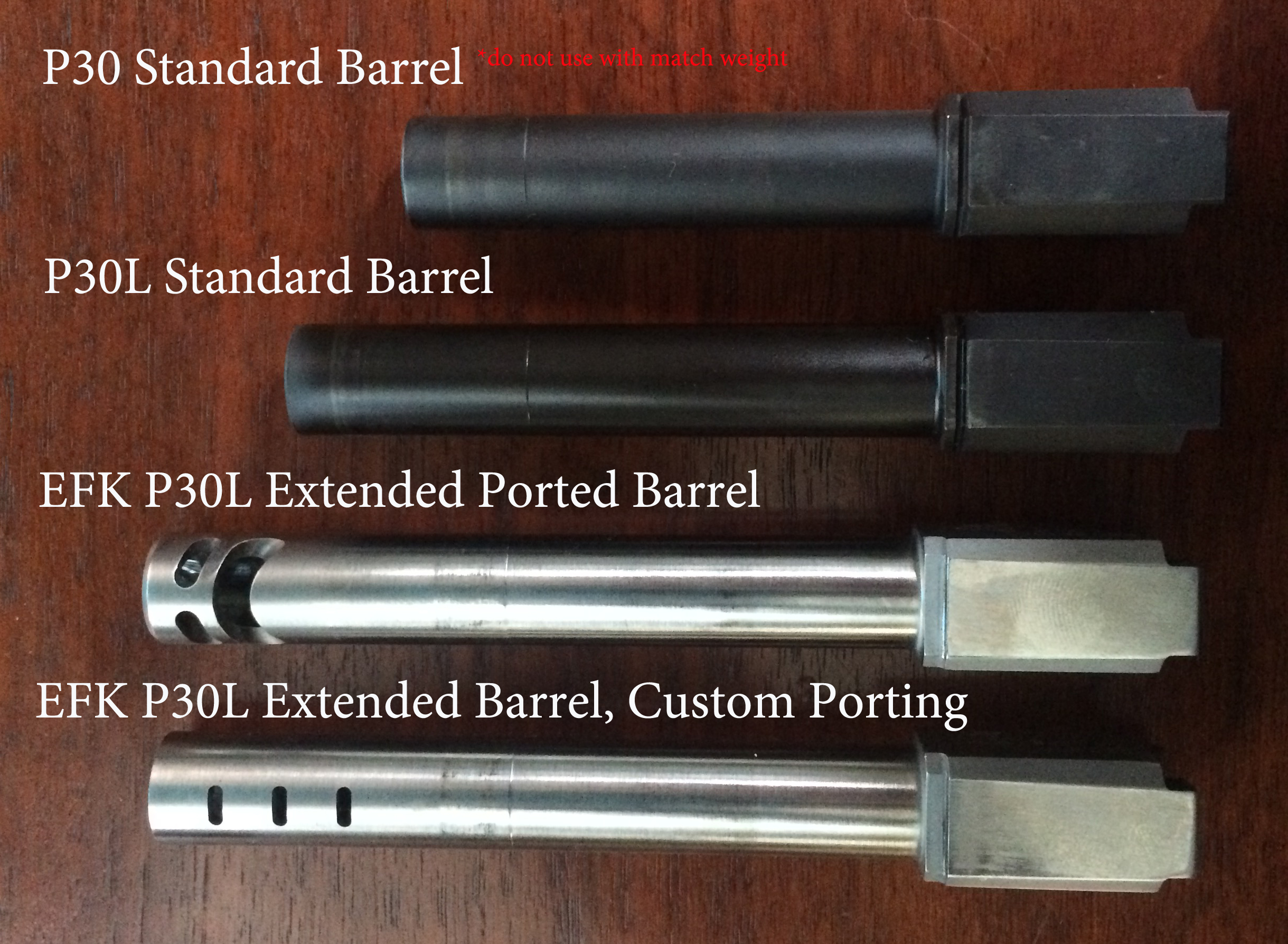 Barrels for the Match Weight