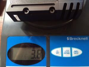 Weight of aluminum match weight